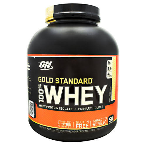 ON Gold Standard 100% Whey, Vanilla Ice Cream - 3.96 lb