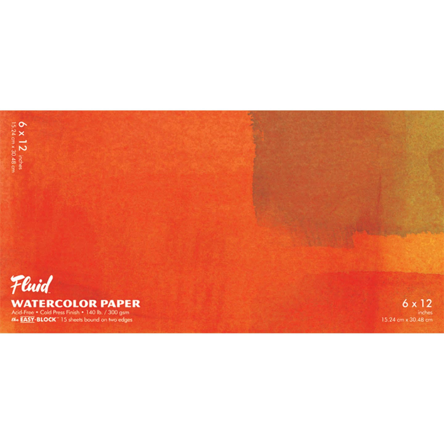 Fluid Watercolor Paper Pad - 15 Sheets