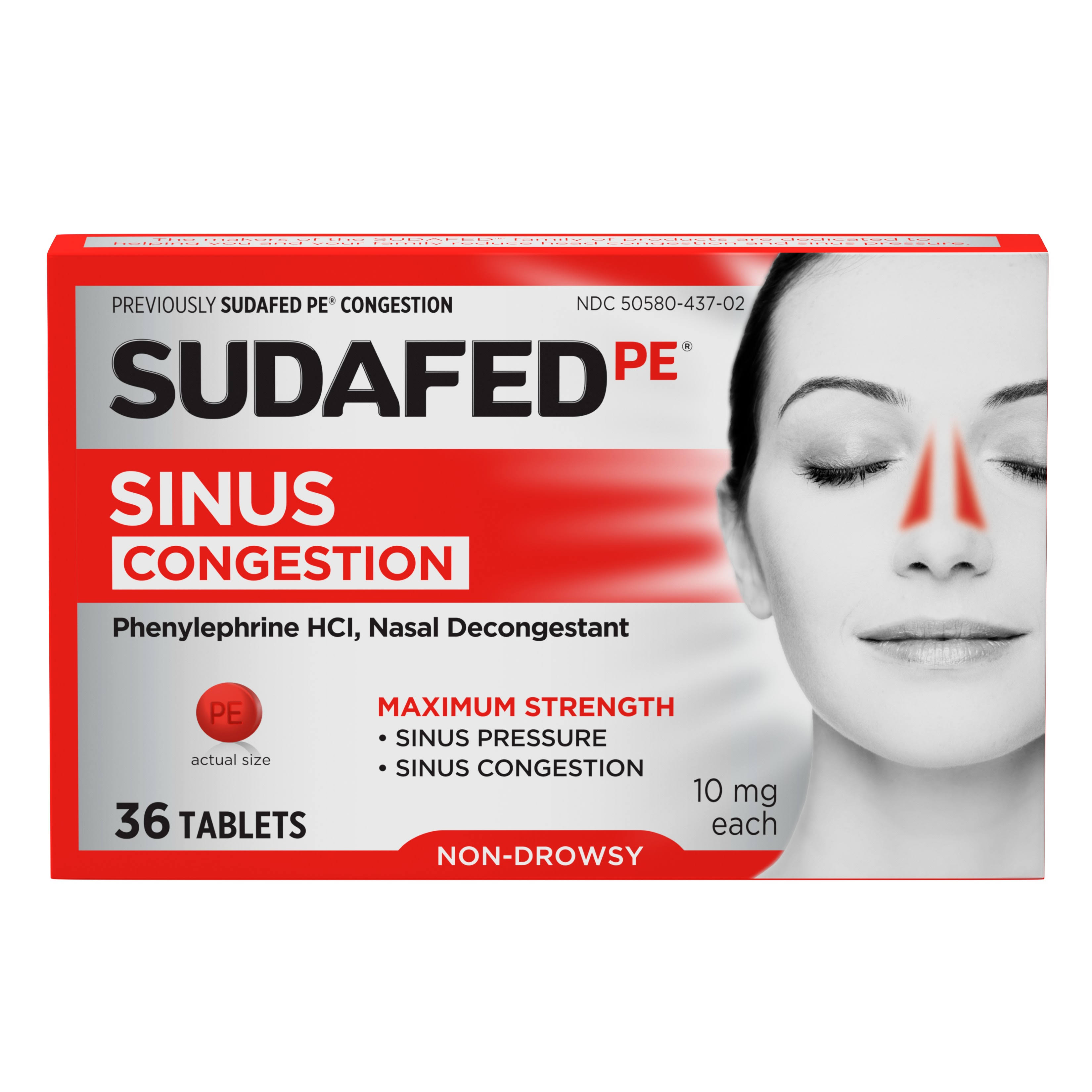 Sudafed PE Congestion Tablets - 36ct