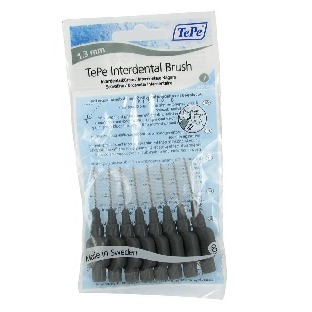 TePe Interdental Brushes 1.3 mm 8 Pack Grey
