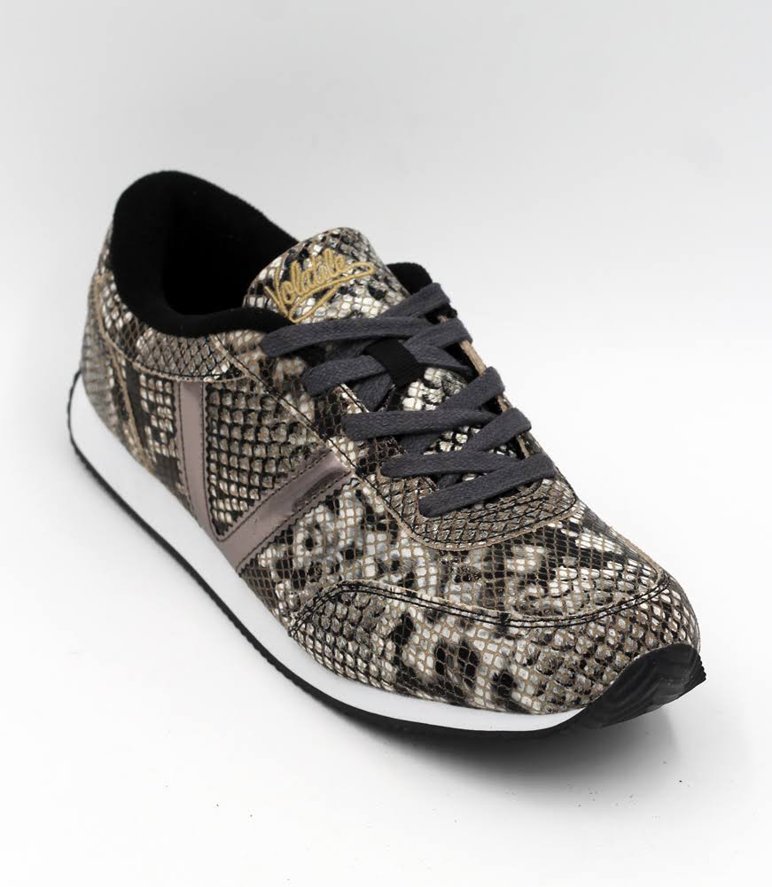 Volatile 'Fitness' Snake Sneakers - Taupe/Multi 8.5