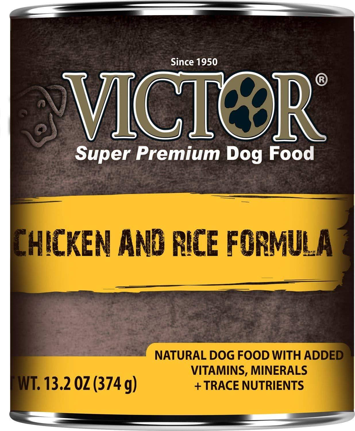 Victor Canned Dog Food - Chicken And Rice, 13.2oz