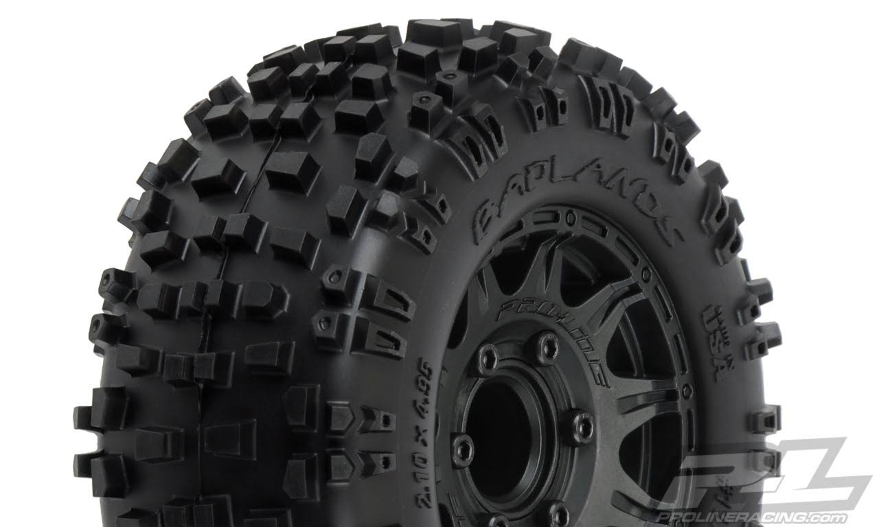 Proline Badlands Rc Model Vehicle Parts All Terrain Raid Tires Mounted - 6 x 30, 2.8""