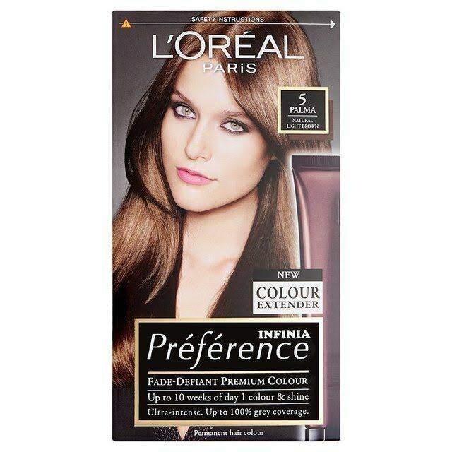 L'Oreal Preference Permanent Hair Dye - 5.0 Bruges Light Brown