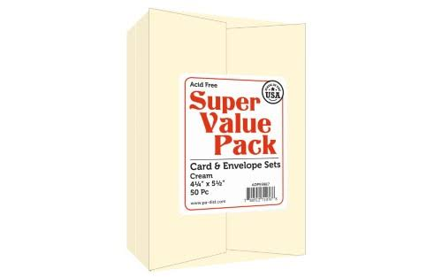 Paper Accents Super Value Card & Env Pack 4.25x5.5 50pc Cream