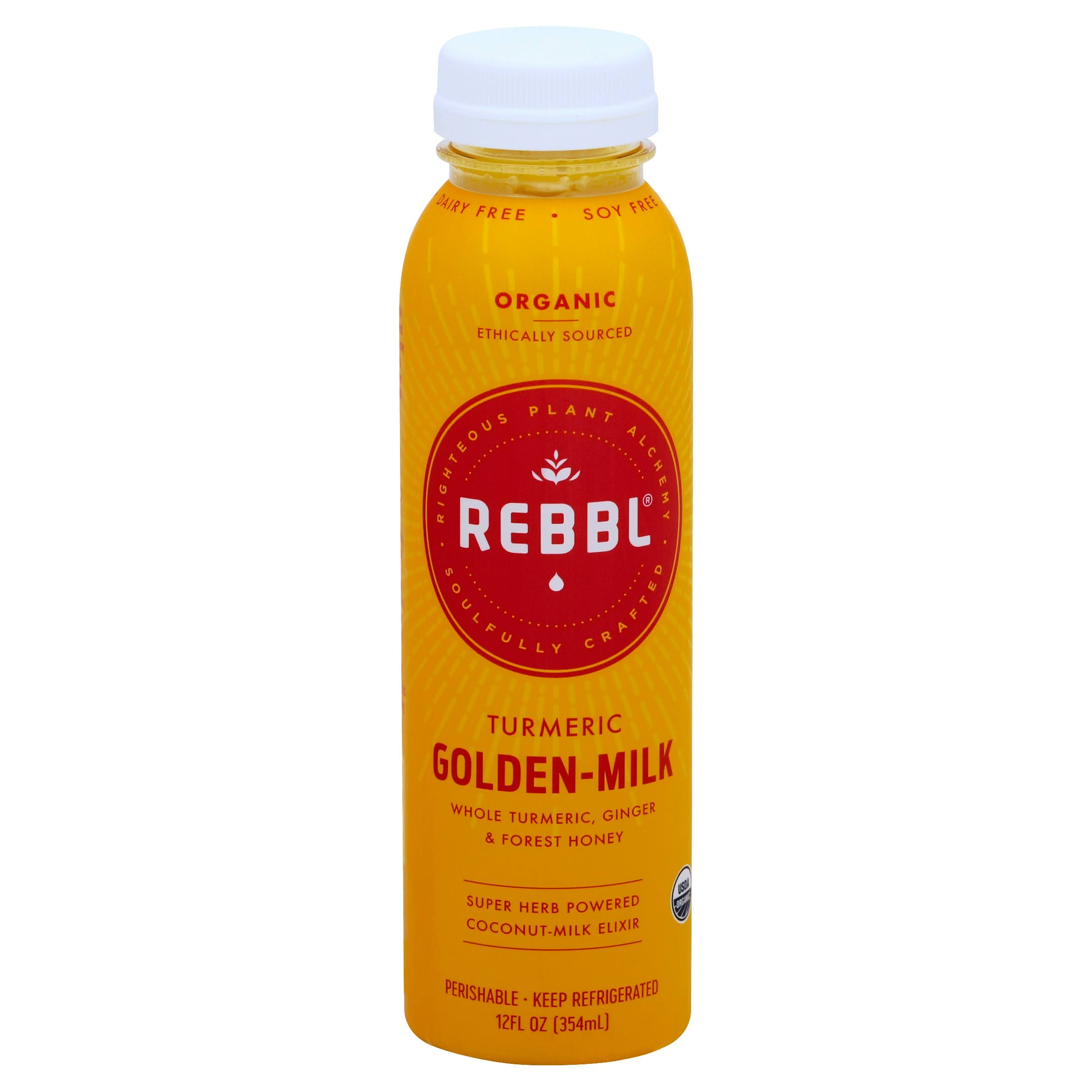 Rebbl Organic Turmeric Golden-Milk Revitalizing Elixir - 12oz