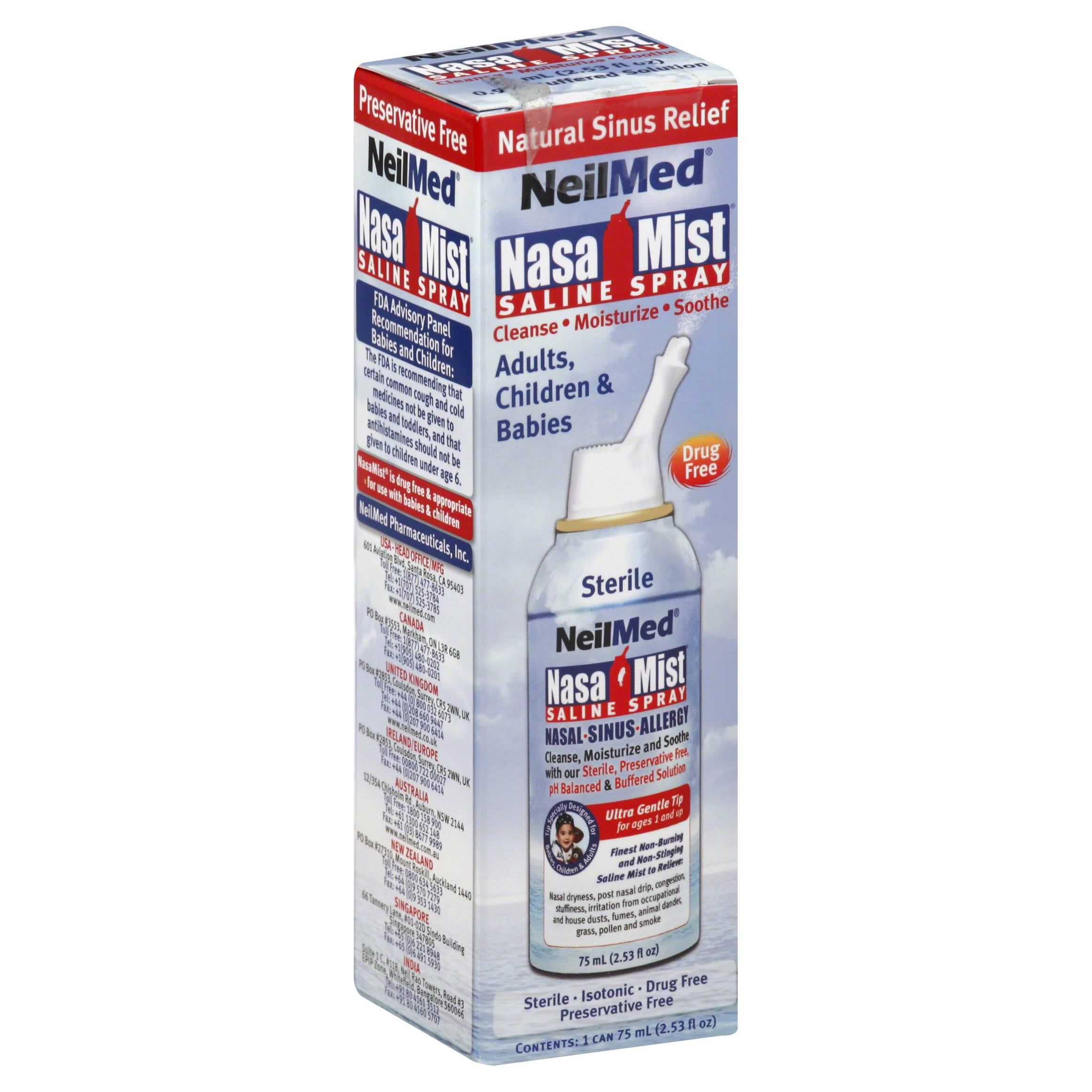 NeilMed Nasamist Saline Spray - 75ml