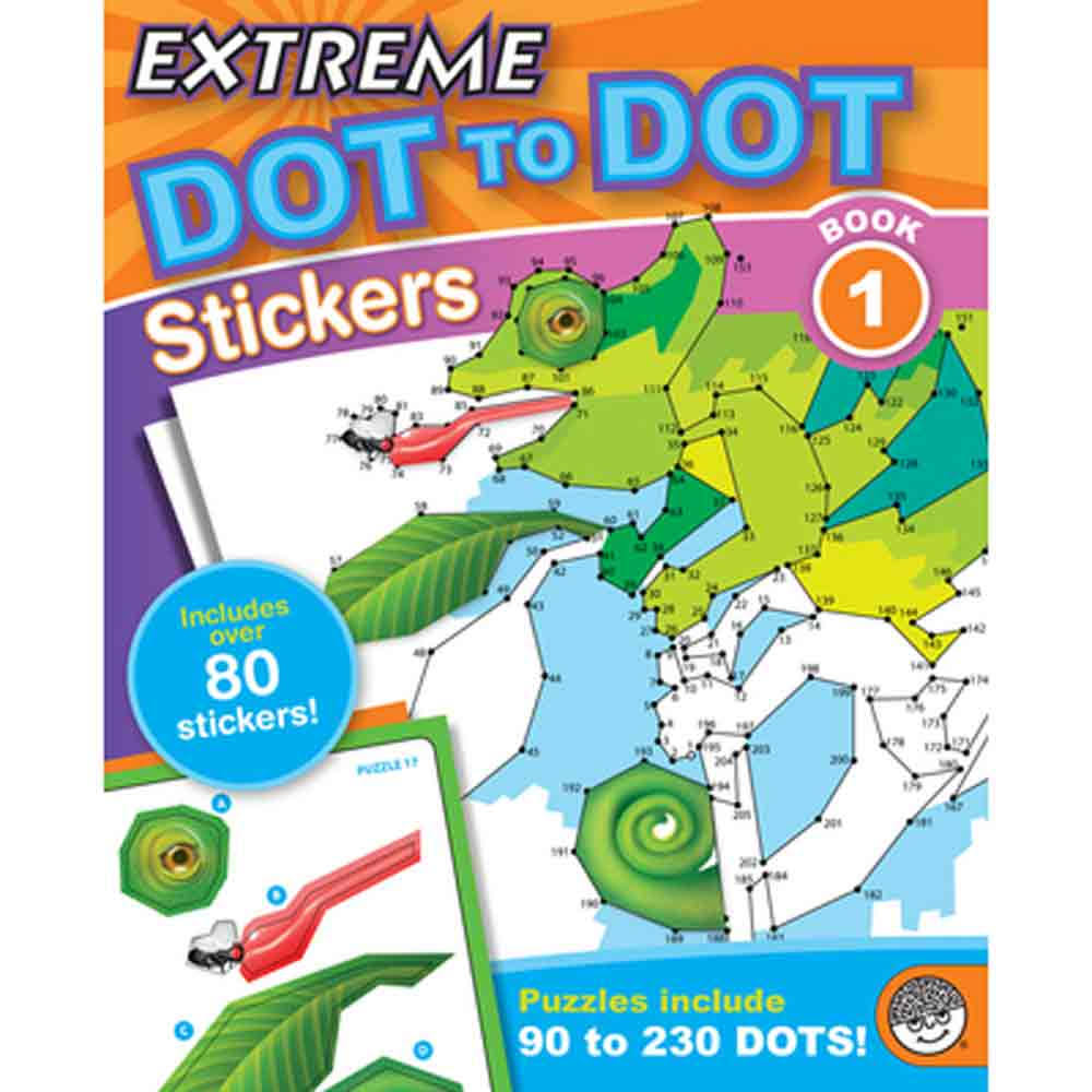 MindWare Extreme Dot to Dot - Stickers Book 1