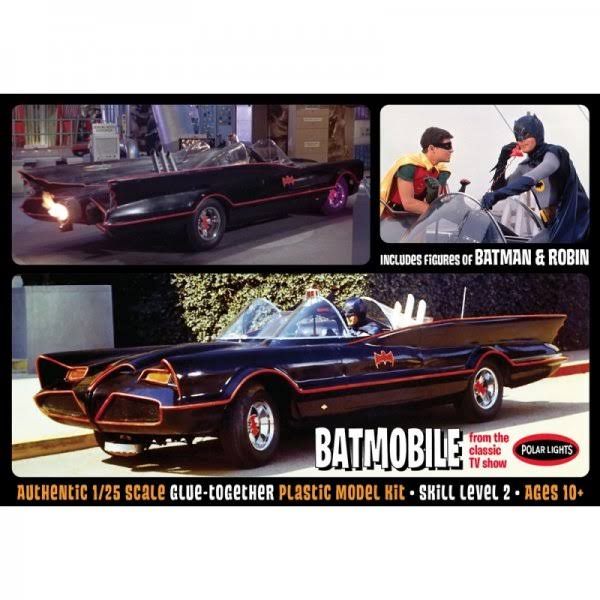 Batman 1966 TV Series Batmobile 1:25 Model Kit Multi-Colored