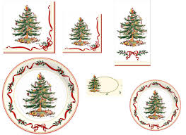 Spode Christmas Tree by C R Gibson Holiday Paper Plates Napkins U2013 Spode Holly U0026 Ribbon