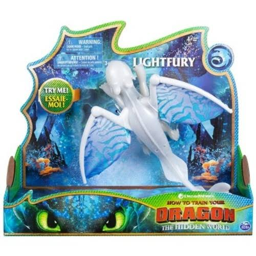 DreamWorks Dragons Light Fury Deluxe Dragon Playset - with Lights and Sounds