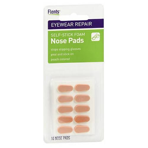 Flents Self-Stick Foam Nose Pads - Peach, 10 Count