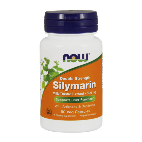 Now Silymarin Milk Thistle Extract, 300 mg, Veg Capsules - 50 count