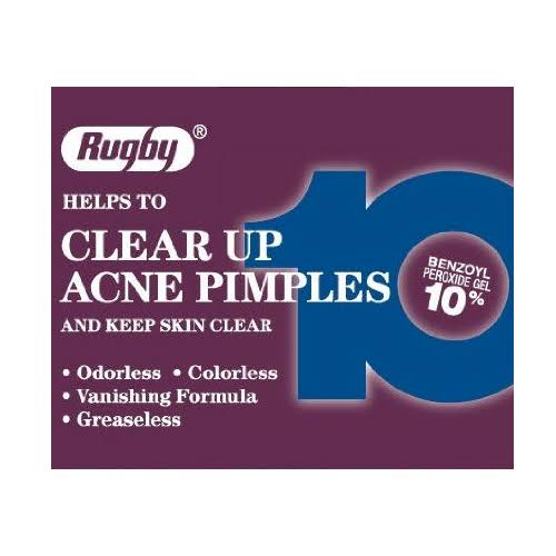 Rugby 10 Benzoyl Peroxide Lotion Acne Medication - 1oz