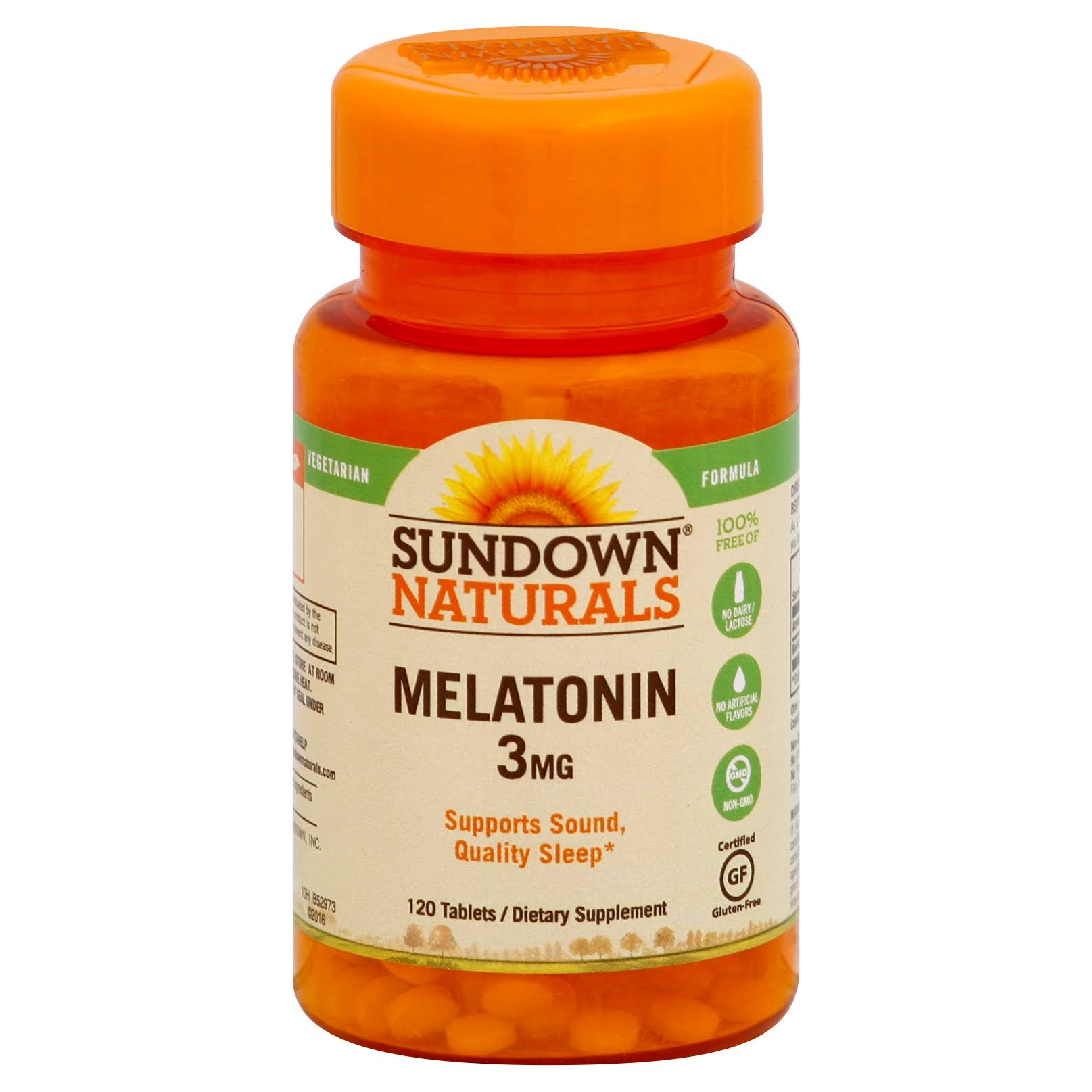 Sundown Naturals Melatonin Dietary Supplement - 120 Tablets