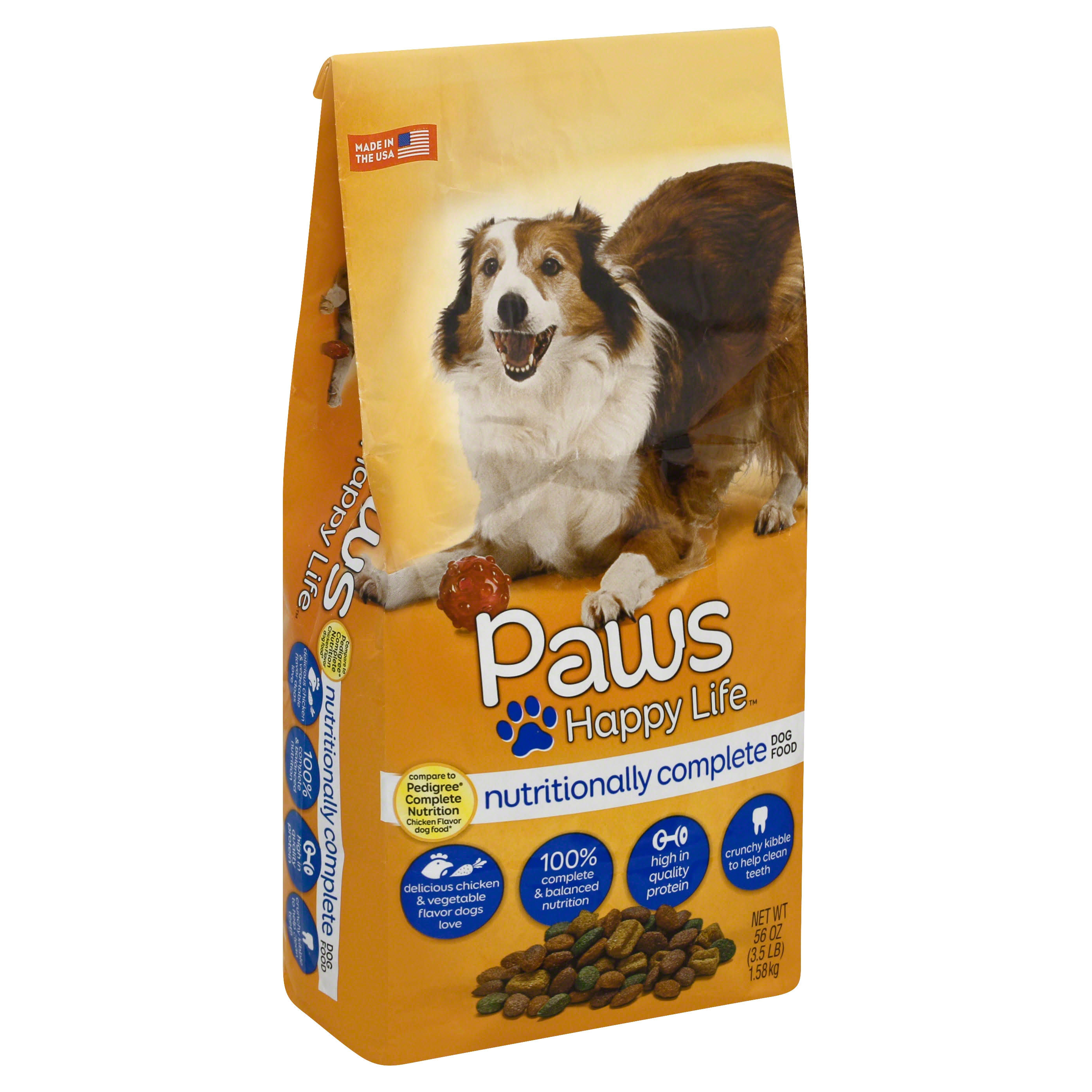 Paws Happy Life Dog Food, Nutritionally Complete - 56 oz