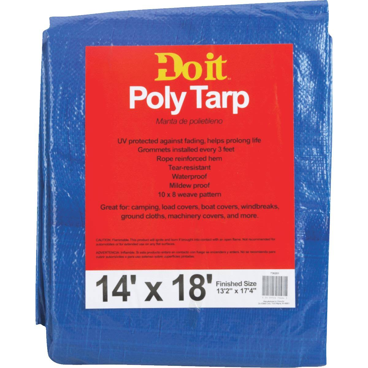 Do It Dynatech International Inc Medium Duty Tarp - Blue, 14' x 18'