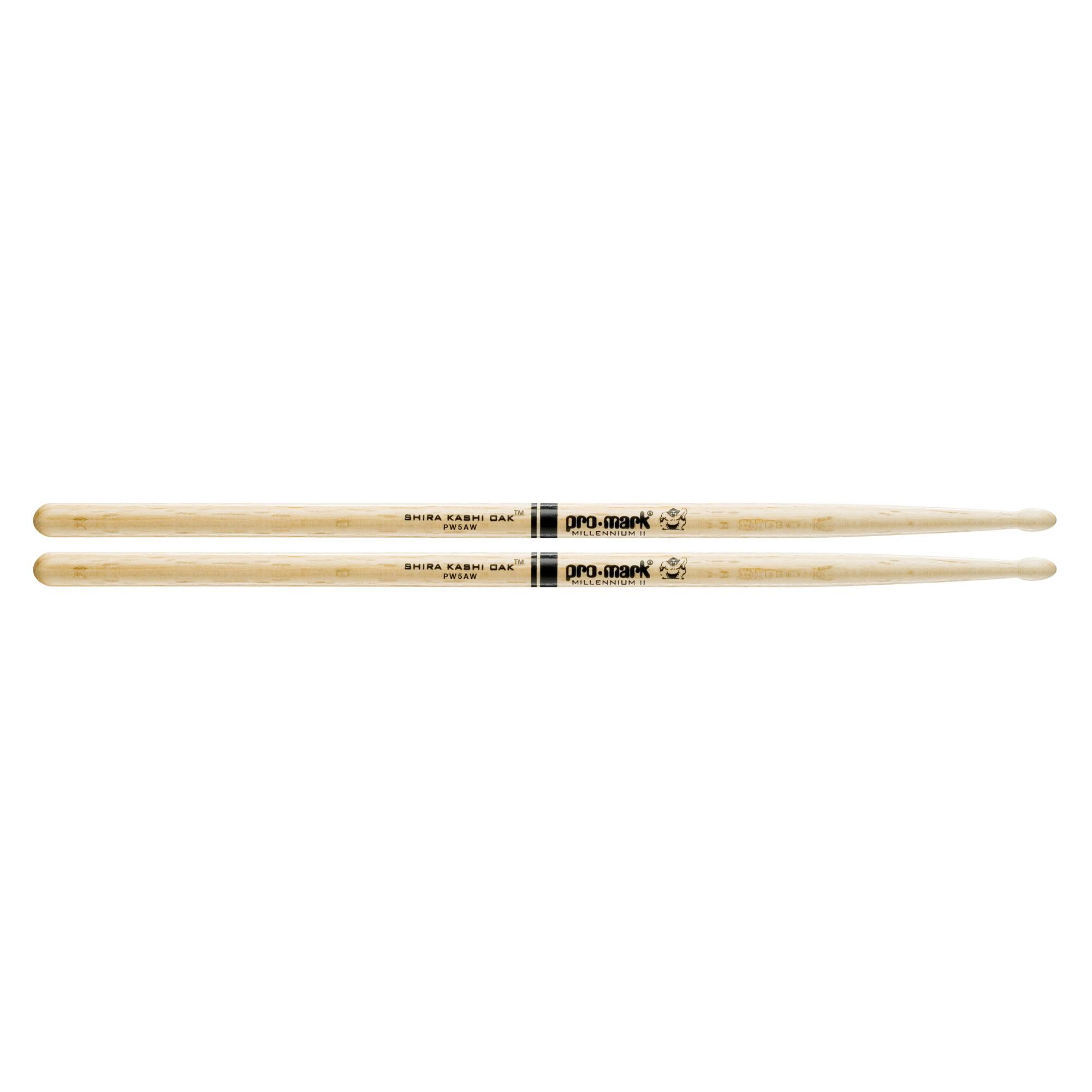 Pro Mark Japanese Shira Kashi White Oak 5A Wood Tip Drumsticks - Single Pair