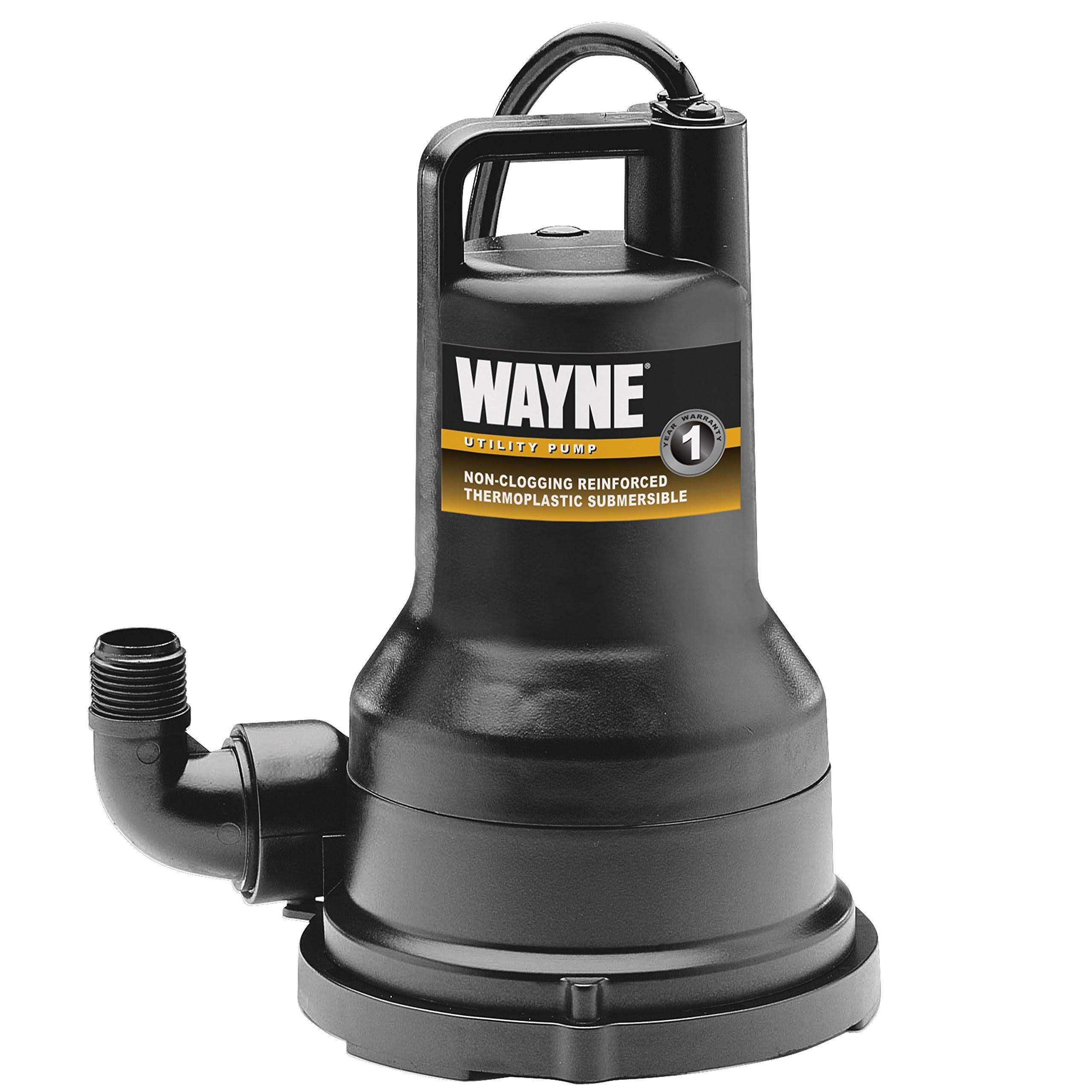 Wayne VIP15 Thermoplastic Portable Electric Water Removal Pump - 1/5 HP