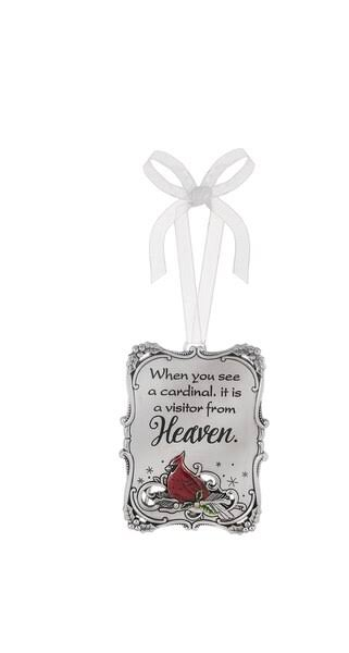 Ganz Ornament Plaque - When You See A Cardinal (EX20612)