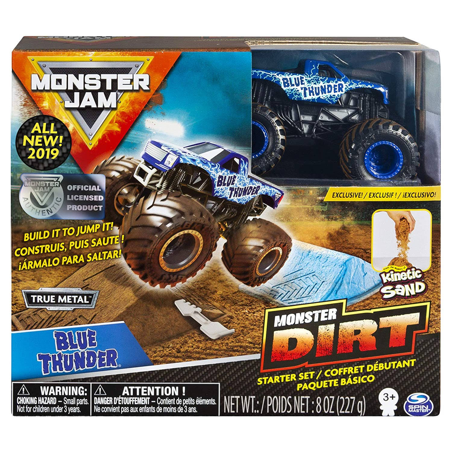 Monster Jam Monster Dirt Starter Set - Blue Thunder, 8oz, 1:64 Scale