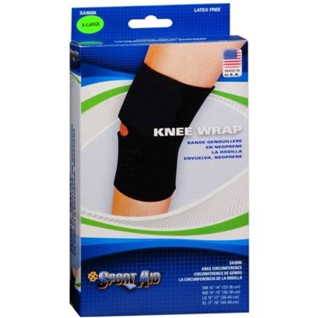 Sport Aid Knee Wrap - Black, X-Large
