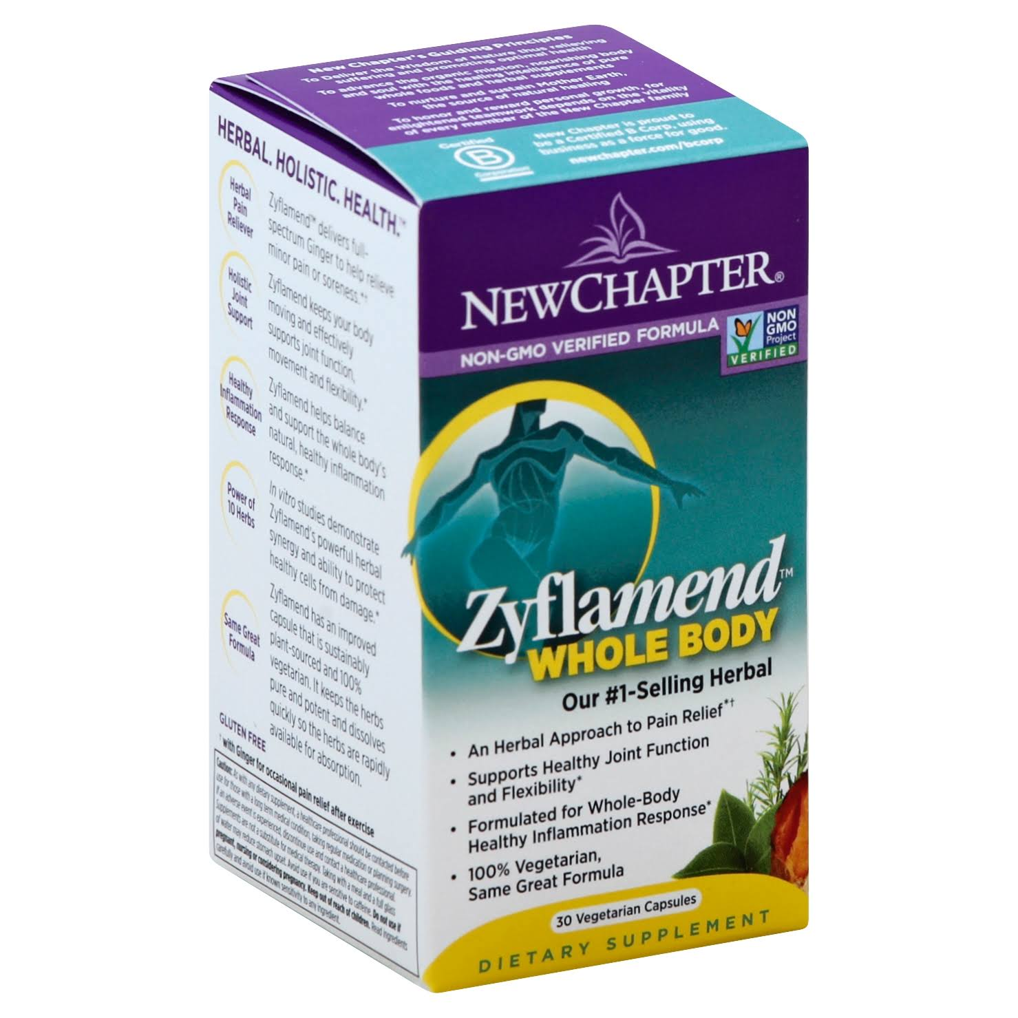 New Chapter Zyflamend Wholebody Herbal Pain Reliever - 30 Softgels