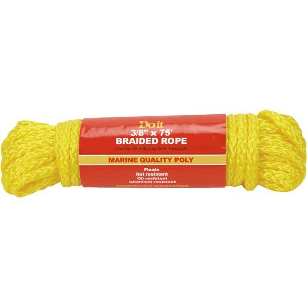 Do it Best Polypropylene Braided Rope - Yellow