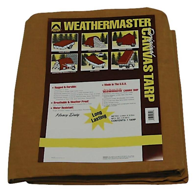 The Dize Co. Weathermaster Canvas Tarp - 12ft x 16ft, 10oz