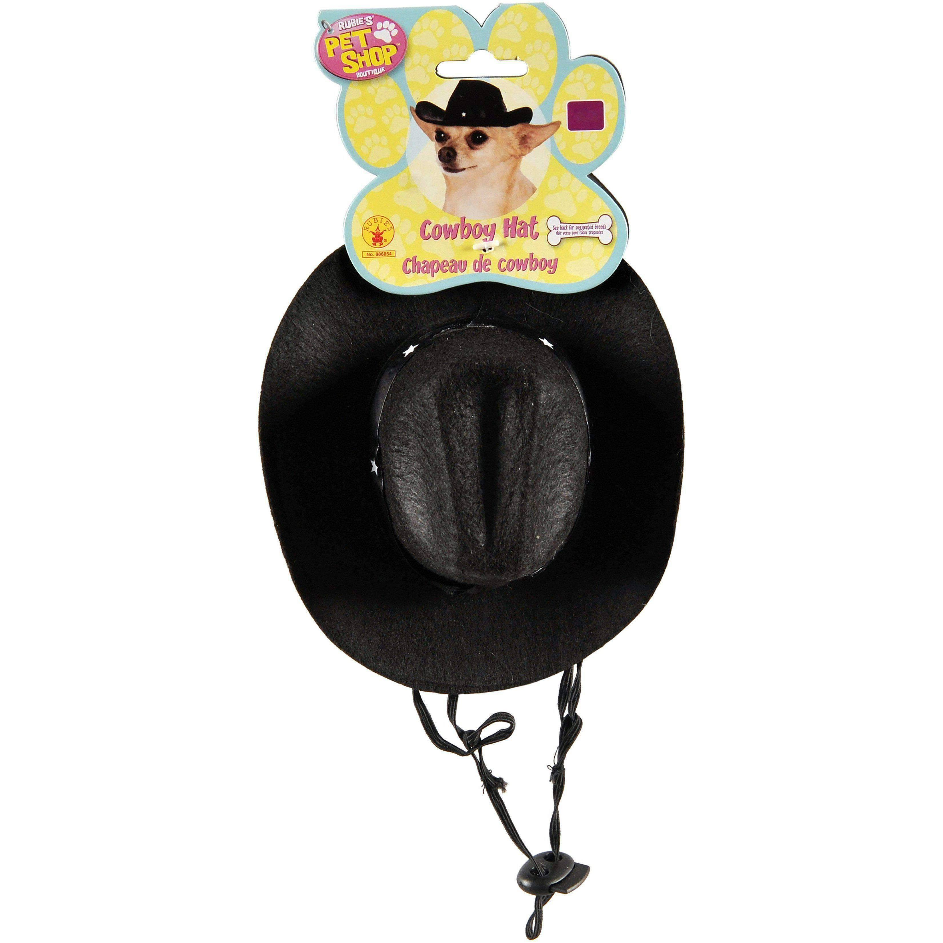 Rubie's Pets' Cowboy Hat - Black, Small to Medium