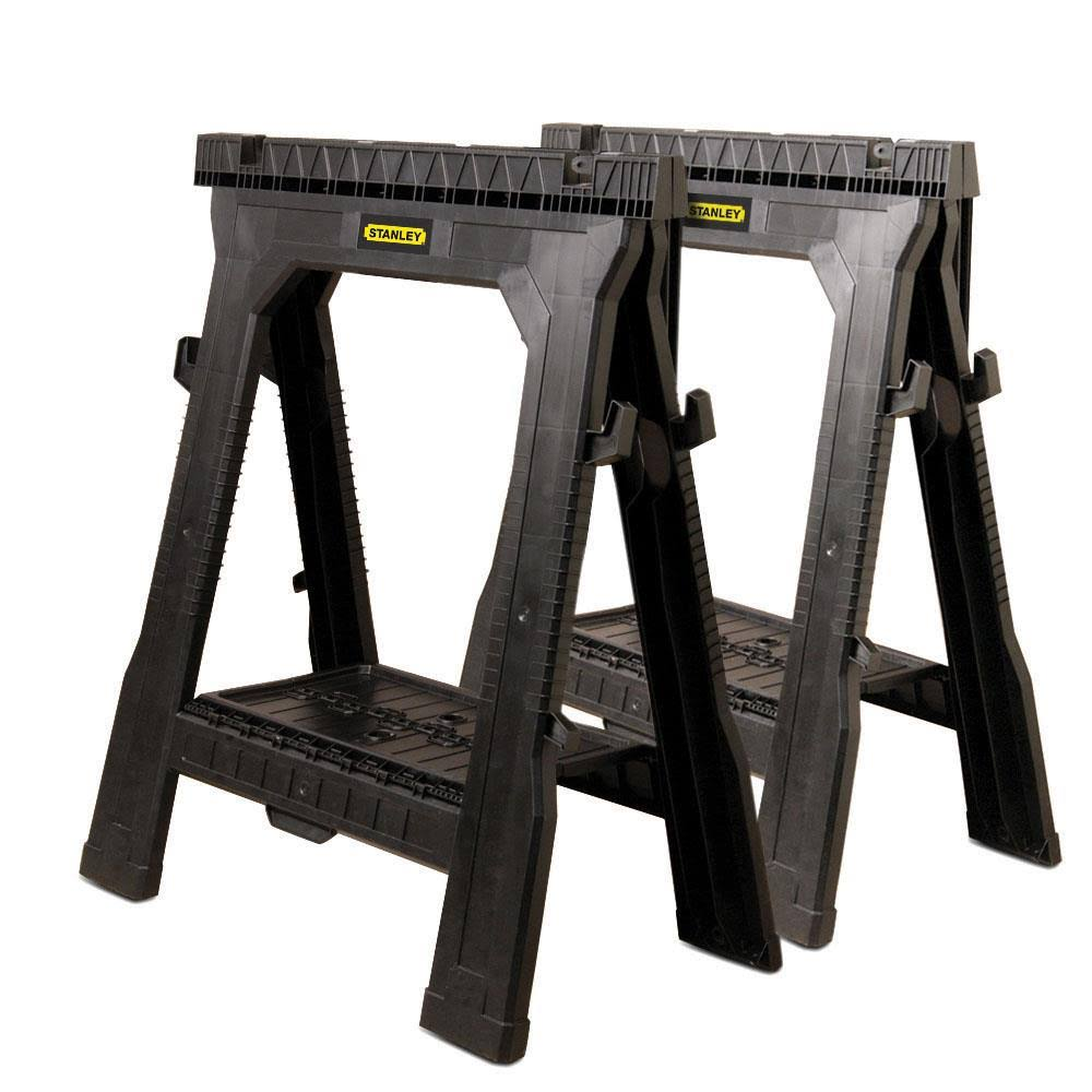 Stanley Tools 060864R Twin Pack Folding Sawhorse