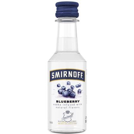 Smirnoff Blueberry, 50 mL, 70 Proof (Vodka Infused With Natural Flavors)