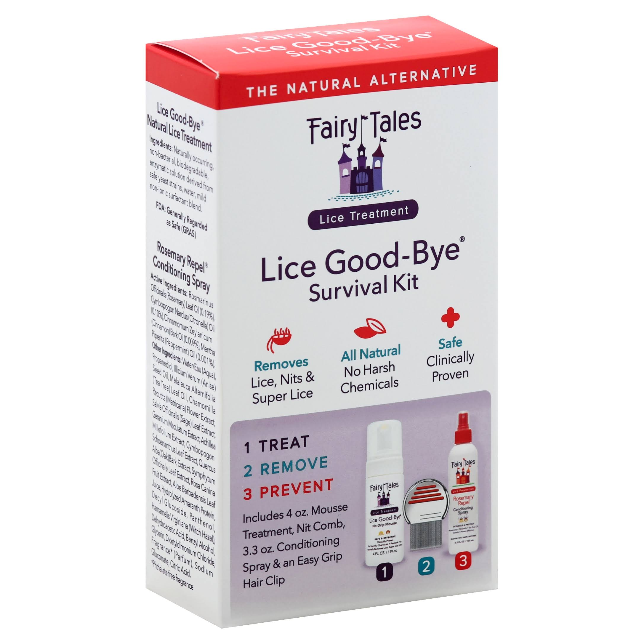 Fairy Tales Lice Good-Bye Survival Kit for Kids