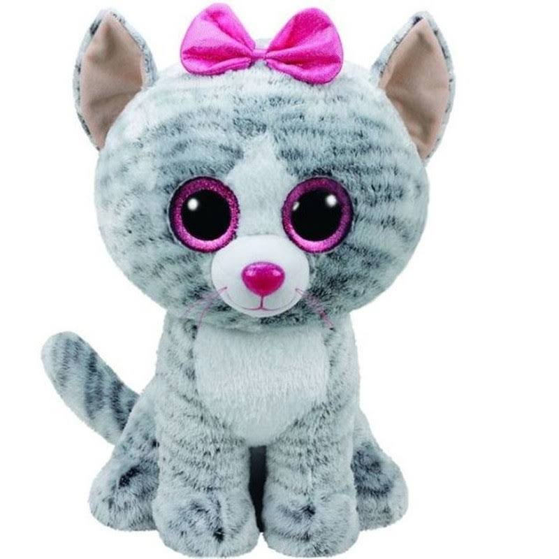 "Ty Beanie Babies Kiki the Cat Stuffed Animal - Large, 16"", Boo Buddy"