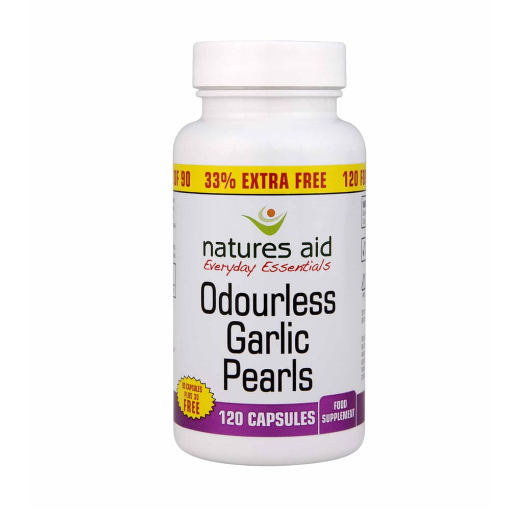 Natures Aid Garlic Pearls - 120 capsules