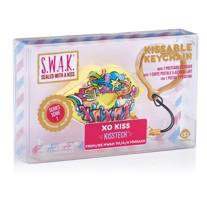 S.W.A.K. Interactive Kissable Key Chain XO Kiss - by WowWee