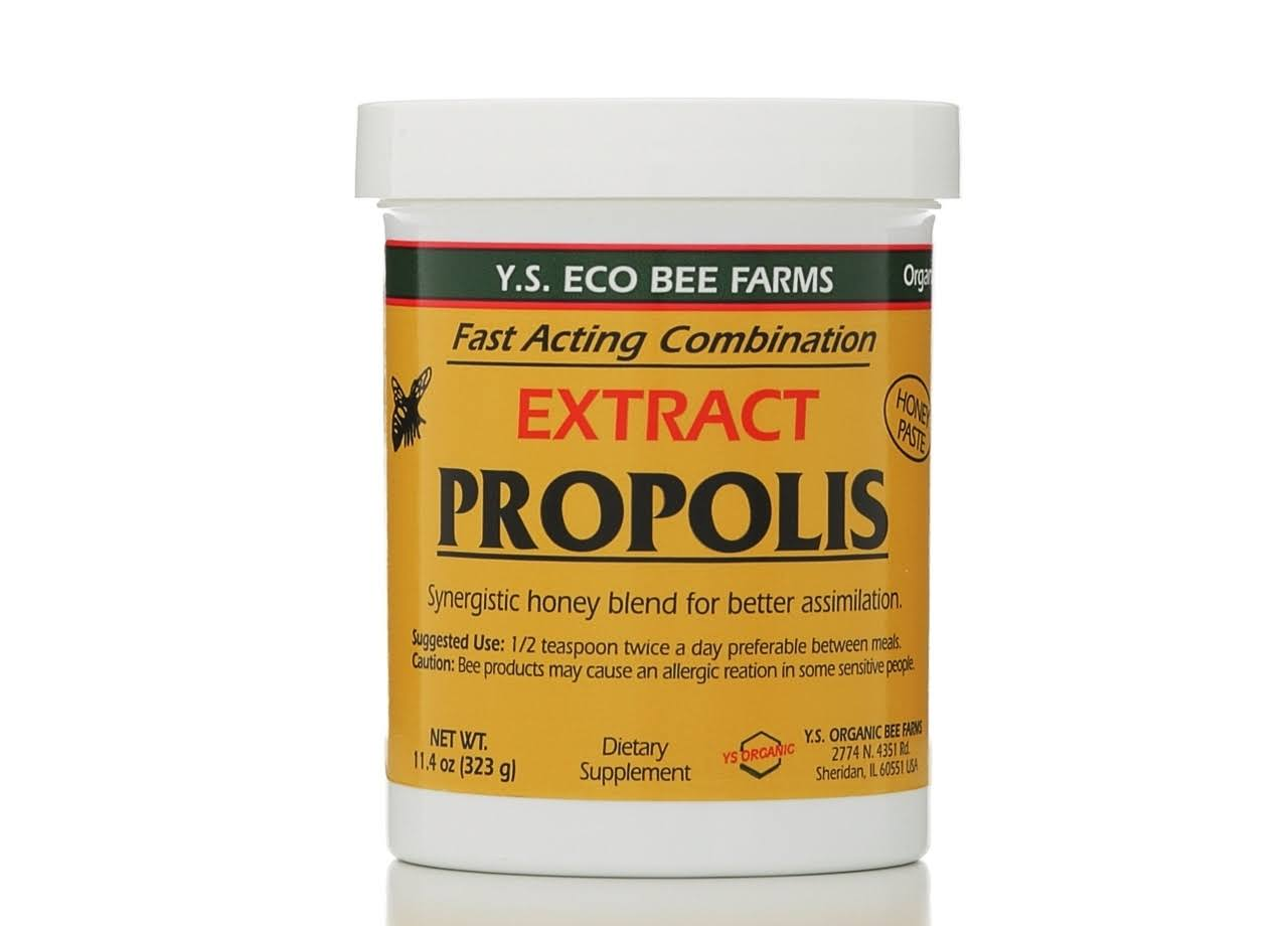 Ys Eco Bee Farms Propolis Extract Natural Honey Paste - 11.4oz