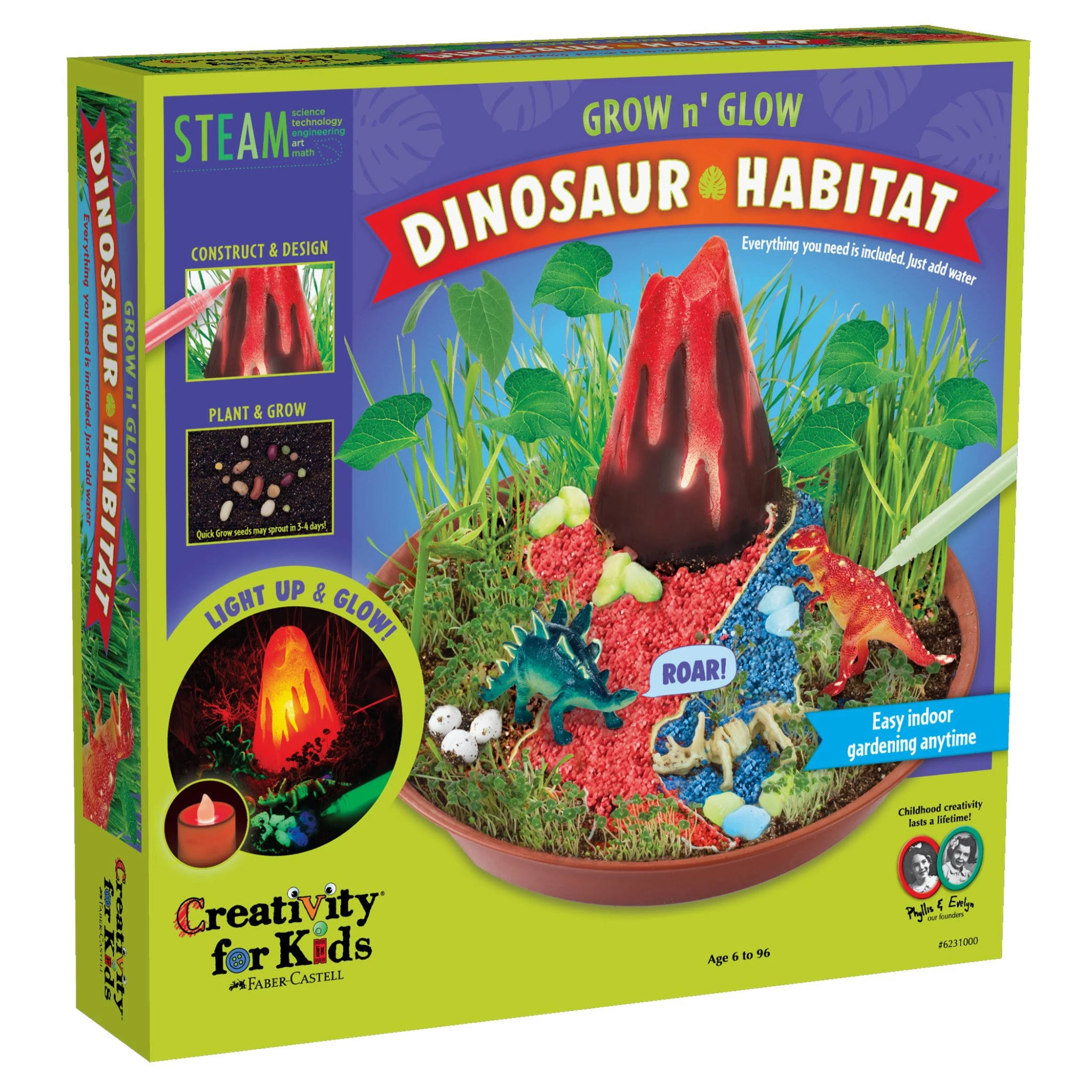 Creativity for Kids - Grow N' Glow Dinosaur Habitat
