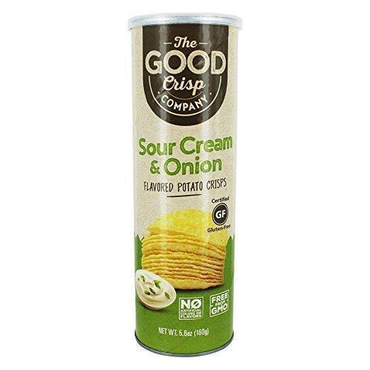 Good Crisp Potato Crisps, Sour Cream & Onion - 5.6 oz