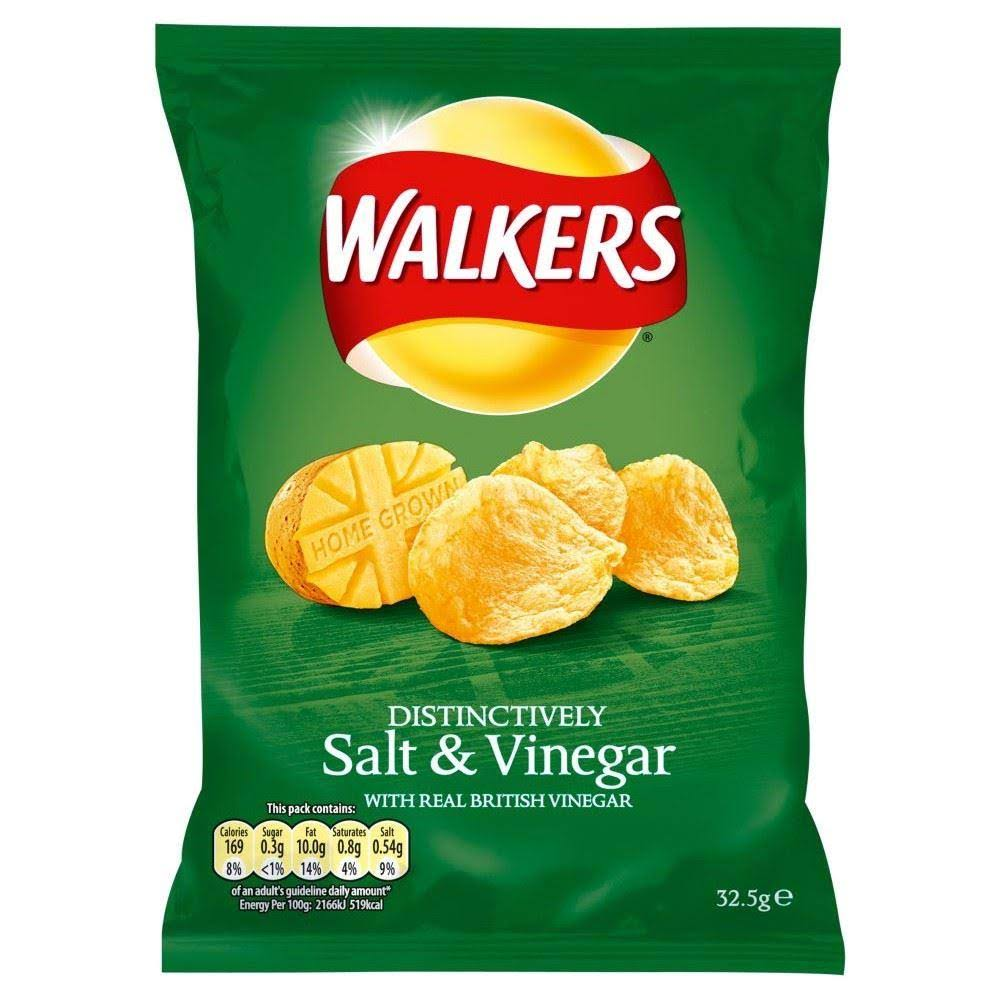 Walkers Crisps - Salt and Vinegar, 32.5g
