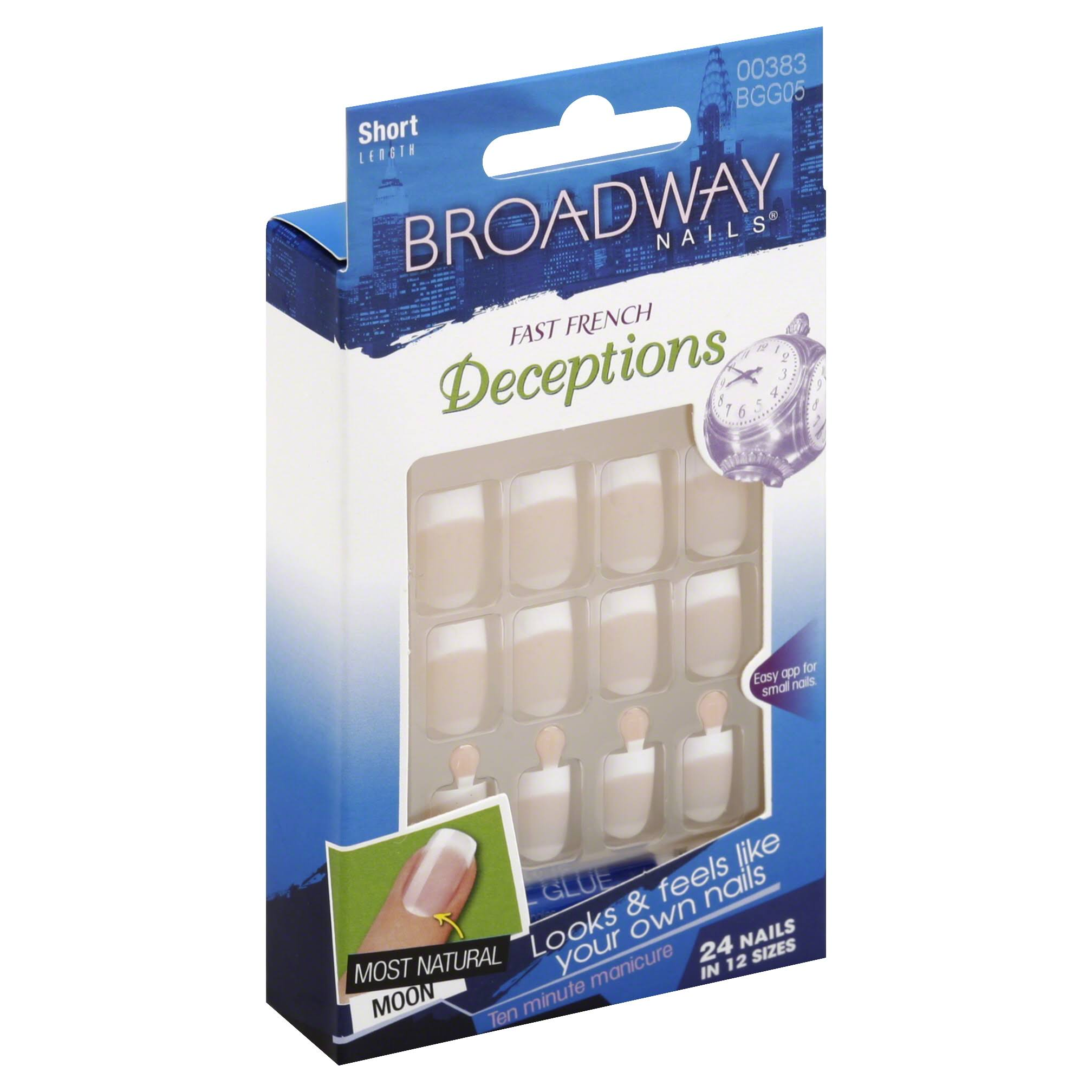 Broadway Nails Fast French Deceptions - 24 Nails