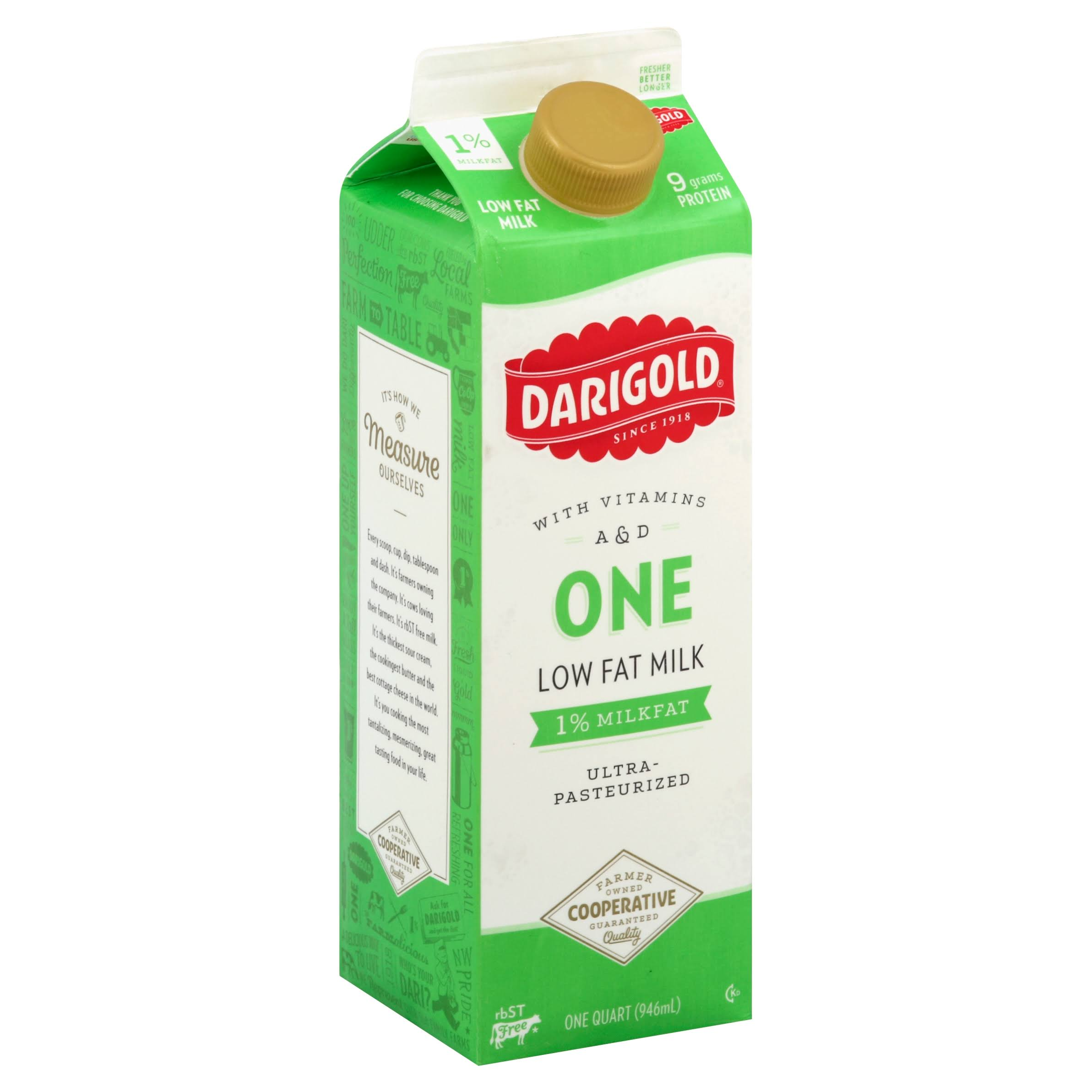Darigold One Milk, Low Fat, 1% Milkfat - one quart (946 ml)