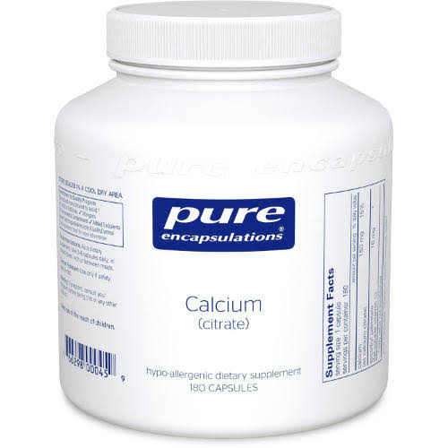 Pure Encapsulations Calcium Citrate Supplement - 150mg, 180 Count