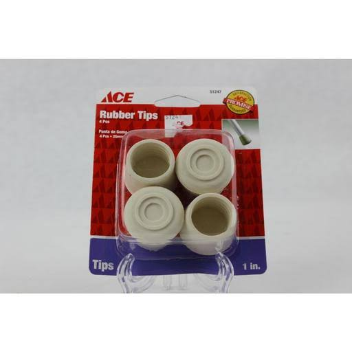 Ace Tip Leg Rubber, White, 1""