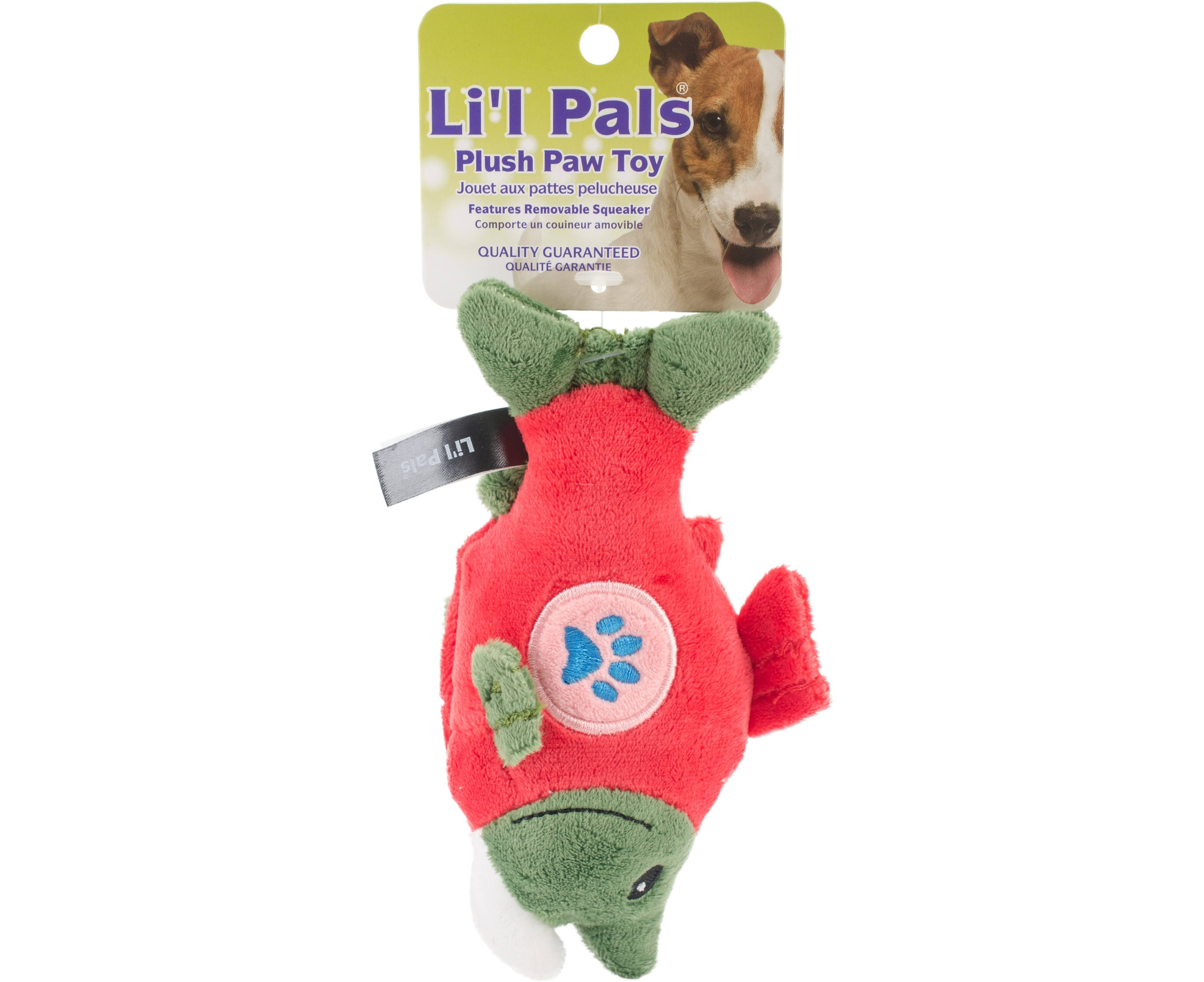 Coastal Pet Products Paw Salmon Plush Toy