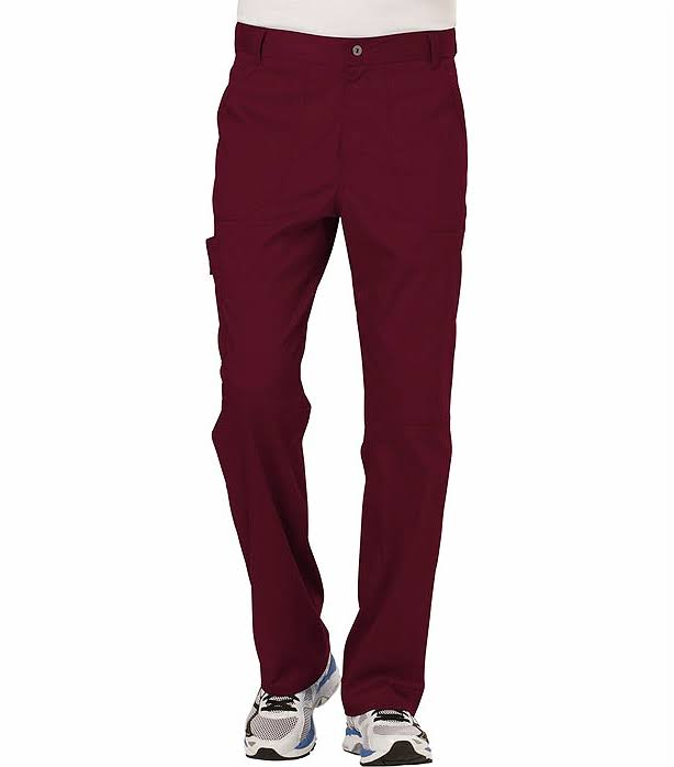 Cherokee Workwear Revolution Men's Fly Front Pant - Wine (L)