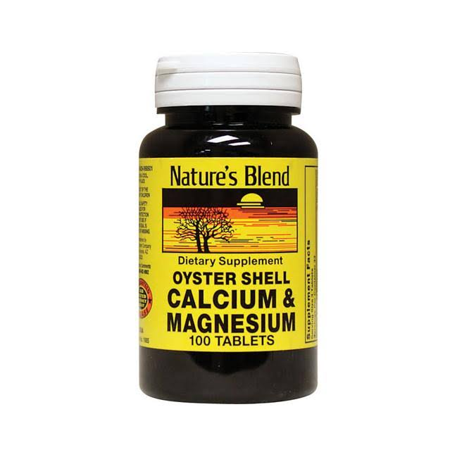 Nature's Blend Oyster Shell Calcium & Magnesium - 100 Tablets
