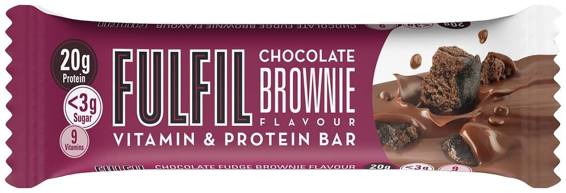 Fulfil Chocolate Brownie Flavour Vitamin and Protein Bar - 55g