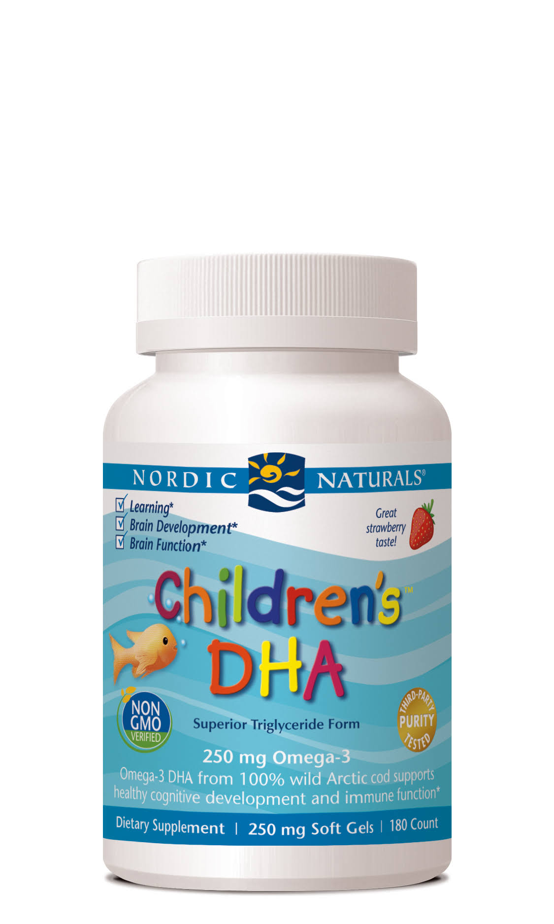 Nordic Naturals Childrens DHA Supplement Chewables - Strawberry, 250mg, 180ct