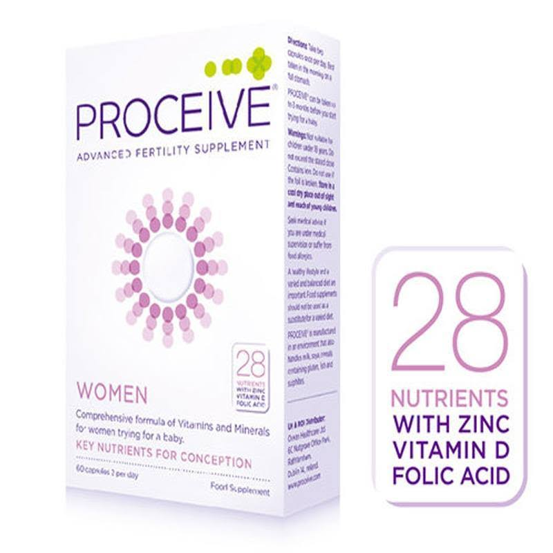Proceive Advanced Fertility Supplement Women - 60 Capsules